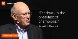 Feedback is the breakfast of champions - feedback